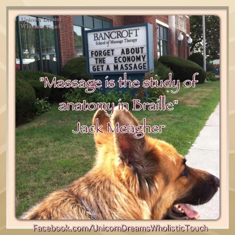 Gabriel headed in to BSMT for canine/small animal massage